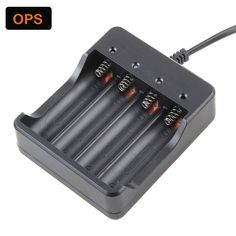 4 Slots 18650 Battery 18650 Charger US Plug Battery Charger with AU EU UK Change-Over Plug 4X 18650 18500 Rechargeable Batteries