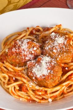 Because I never write down the recipe my stepmom gives me... Italian Spaghetti and Meatballs Recipe