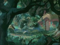 The Sword In The Stone. Animation Backgrounds.