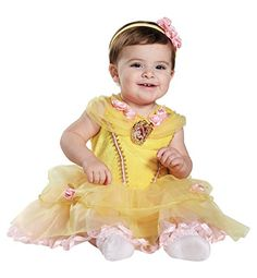 Disney Baby Girls Belle Infant Costume Yellow 6 to 12 Months >>> See this great product-affiliate link-affiliate link.