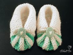 Free knitting patterns: baby booties