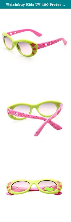 Weixinbuy Kids UV 400 Protection Floral Printed Sunglasses Green&Pink. Size:39x41x120mm as the picture show One size fits most kids Material: Plastic UV 400 protection Vintage and stylish sunglasses for your baby to wear Fits for both boys and girls to wear Suitbale for 3~10 years kids to wear Great accessories to match with your baby's fashion clothes .