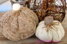 Hometalk :: How to make Sweater Pumpkins