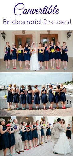 Navy Convertible Bridesmaid Dresses by The Jersey Maid - affordable dresses for your bridal party!