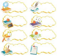 Name Tag For School, School Frame, Name Tag Design, School Border, Poster Background Design, Boarder Designs, School Icon, School Images, School Cartoon