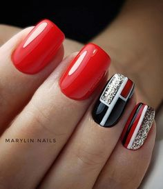 What you need to know about acrylic nails - My Nails Cute Nails, Pretty Nails, Geometric Nail, Latest Nail Art, Manicure E Pedicure, Manicure Ideas, Nagel Gel, Nail Decorations, Nail Art Diy