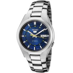 Seiko Men's SNK615 Automatic Stainless Steel Watch * This is an Amazon Associate's Pin. You can get more details by clicking on the image.
