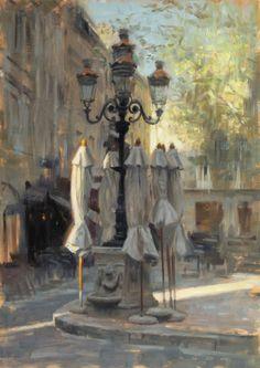 Aldo Balding ~ Place Carnot , le matin .
