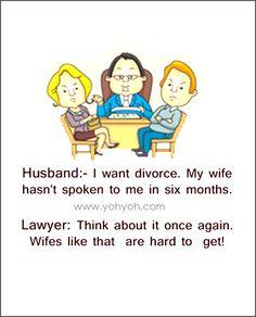 Husband Wife Taking Divorce Funny Lawyer Joke