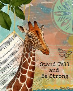 Love to have this in a tattoo 'stand tall' going down my spine and then 'and be strong' under my arm above my elbow. Just a thought....