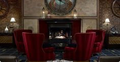 Relax and unwind in the luxurious Argonaut hotel lobby at Fisherman's Wharf, San Francisco.