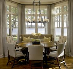bay window dining nook - Google Search