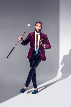 Jidenna This is an example of dandy style because of the colors and the velvet used in the suit. The printed tie as well adds to the dandy style. African Men, African Fashion, Estilo Dandy, Suit Fashion, Mens Fashion, Style Afro, Dandy Style, La Mode Masculine, Classic Man