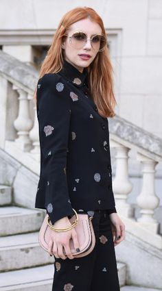 Emma Roberts. Chloe Nile Bag. Street Style. Chloe Girls. PFW. Paris Fashion Week.