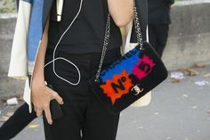 Paris Fashion Week: Amid all the classic styles, we can always get behind a Chanel bag that packs a punch.