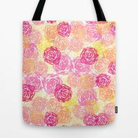 Tote Bag featuring Watercolor Floral 1 by Robin Gayl