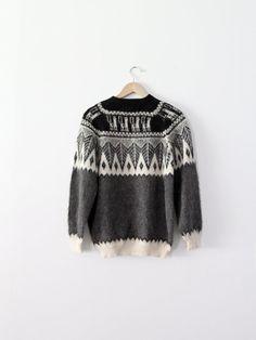 Vintage Alpaca Sweater / 1980s Peruvian Sweater by 86Vintage86,