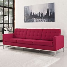 florence_knoll_sofa_in_wool_red3
