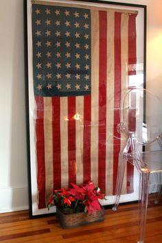 framing a vintage flag...