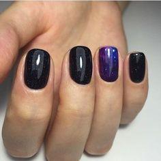 Аккуратные ногти, Дизайн черных ногтей, Идеи градиентного маникюра, Идеи маникюра 2017, Идеи черного маникюра, Космический маникюр, Красивый маникюр 2017, Маникюр весна лето 2017