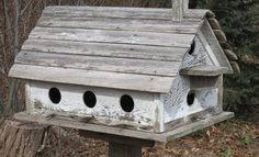 reclaimed wood bird apartment house