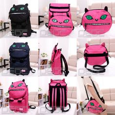 2 in 1!!! You can use as Backpack or just the face as Shoulder Bag.  Material: Nylon Size: Approx. 32cm (L),45cm (H),12cm (W)