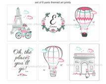 Paris Art, Paris Decor, Girls Paris Bedroom decor, Paris Art Prints, Travel Art Print, Girls Paris Aqua Teal Bedding, Unframed Pick your set