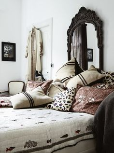 greige: interior design ideas and inspiration for the transitional home : Boho Bedroom from the home of fashion designer Michala Wiesneck (via Bo Bedre)