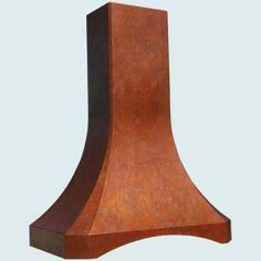 Copper Range Hoods Tall French Sweep | Custom Copper Range Hoods Tall French Sweep
