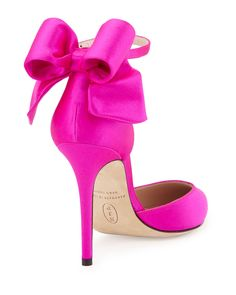 The perfect bow satin pump!