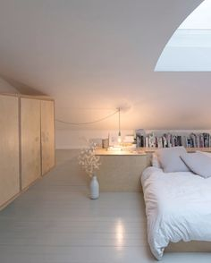 Simple and pure bedroom, practical too in this small space Likes, 51 Comments - Fiona Burrage