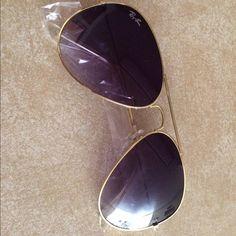 Ray ban sunglasses aviator new Ray ban sunglasses aviator new Silver frame! Not gold! Ray-Ban Accessories Glasses