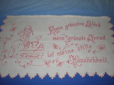 Mein grösstes Glück Embroidery Transfers, Vintage Embroidery, Stitches, T Shirts For Women, Happy, Inspiration, Drop Cloths, Line, Cross Stitch