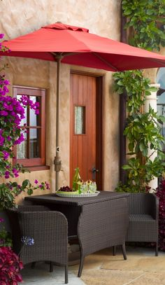Our Outdoor Half Umbrella With Pole Is The Perfect Shade Over A Door, On A