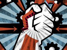 Capa Jornalismo. Crise: O lide de todas as revoluções. Texto: Carol Almeida. Ilustração: Hallina Beltrão. Suplemento Pernambuco, edição 112, junho de 2015.