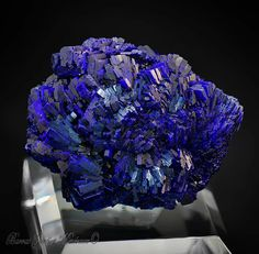 Azurite   Barras-Gautier-Min. Minions, True Colors, Amethyst, Texture, Crafts, Collections, Crystals, Surface Finish, Manualidades
