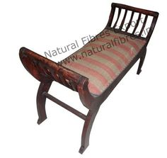 Upholstered Bench by Natural Fibres Export