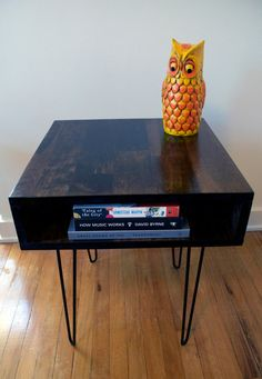 like this but round and with a shelf about mid-way down legs--nightstands