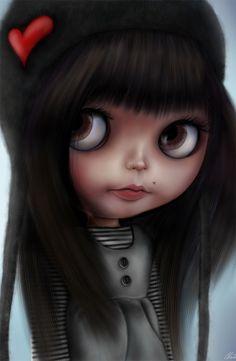 Blythe Doll by Artist Davide Franceschini Digital Art