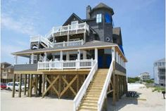 The house from Nights in Rodanthe. So glad it has been rescued!! Almost didn't recognize it heading to Avon