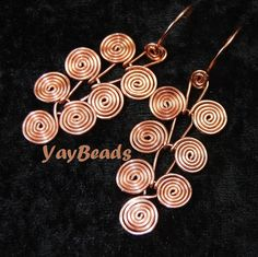 PDF TUTORIAL Egyptian Coils Dangle Earrings DIY How To by YayBeads on etsy