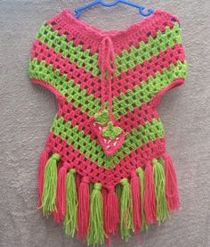 Easy+Girls+Crochet+Poncho | Spring Shawl and Girl's Poncho - CrochetKim.com