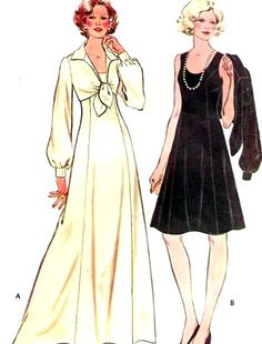 McCalls Sewing Pattern 3923 Dress Gown Jacket Vintage Size 10