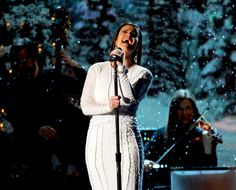 Idina Menzel on stage during the Country Christmas show