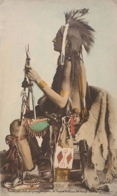 Snake Whistle1880...Cheyenne in Dance Regalia Fort Keogh, Montana... by L.A. Huffman Photographer