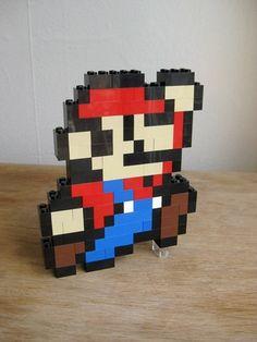LEGO custom kit Mario jumping by GuyTheFly on Etsy, $19.99