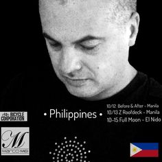 Catch me next Wednesday 12th October in Manila for the first gig of my Philippines Tour