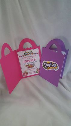 Set of 12 Shopkins Invitations by CraftySistersPlus1 on Etsy