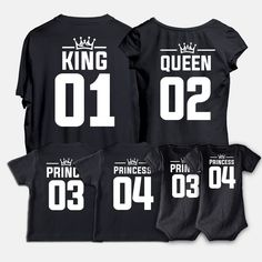 Family t-shirts, King, Queen, Prince, Mama, Papa, Baby tees, high quality t-shirt, matching t-shirt, Christmas gift