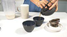 How to make Hojicha Latte Ingredients: Hojicha Tea Soy milk Date Lemon zest Best Green Tea, Soy Milk, Perfect Cup, Latte, Tea Pots, Roast, Lemon, Recipes, Silk Soy Milk